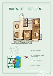 玉龙湖畔高层B63室2厅108㎡
