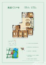 玉龙湖畔高层C15室2厅173㎡