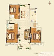 名城御花园6#楼123-134㎡户型3室2厅134㎡