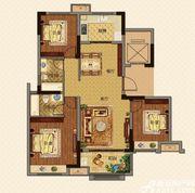 美的城高层E118㎡户型3室2厅118㎡