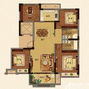 美的城高层F129㎡户型4室2厅129㎡