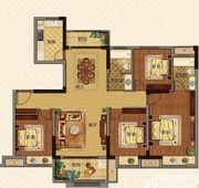 美的城洋房C136㎡户型4室2厅136㎡
