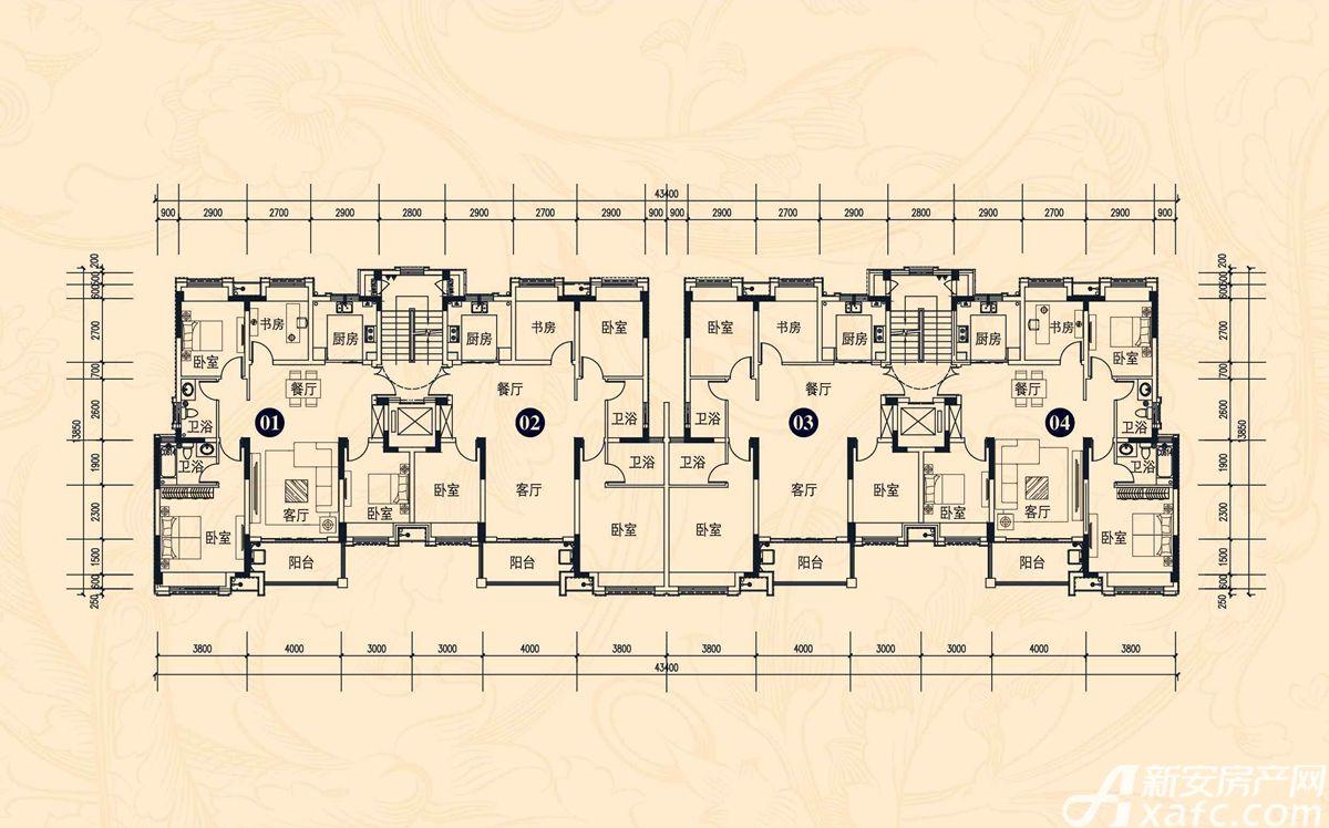 中辰一品13#楼4室2厅119.55平米