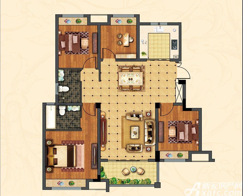 中辰一品19#楼4室2厅118.72平米