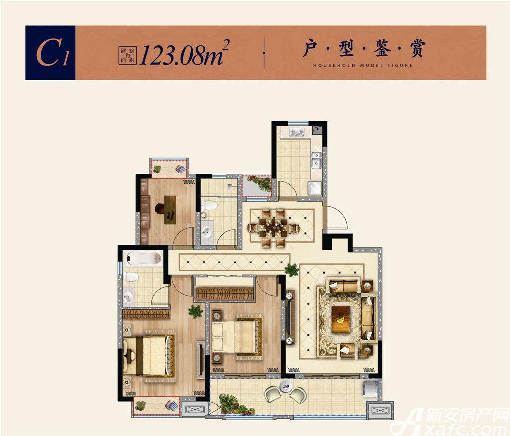 淮矿东方蓝海C13室2厅123.08平米