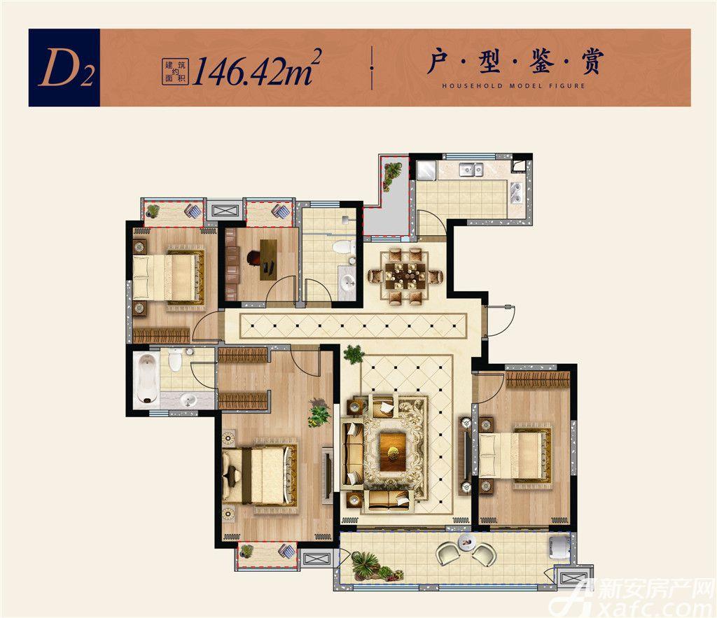 淮矿东方蓝海D24室2厅146.42平米