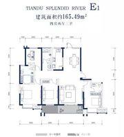天都江苑E14室2厅165.49㎡