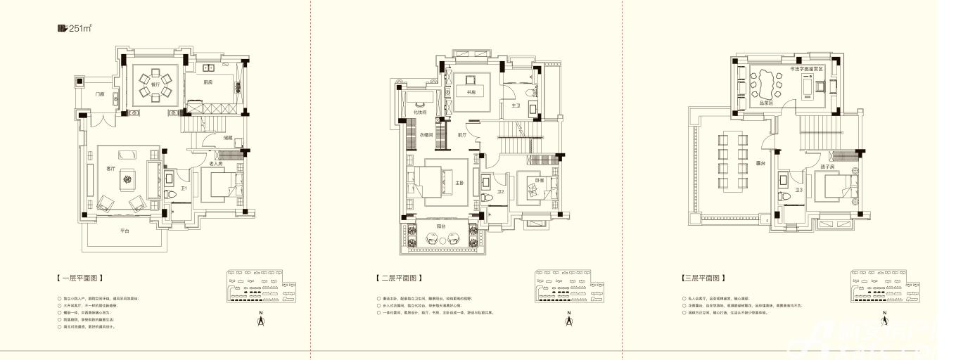 碧桂园仕府公馆别墅4室2厅251平米