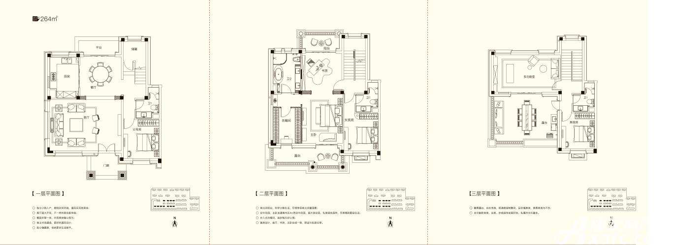 碧桂园仕府公馆别墅4室2厅264平米