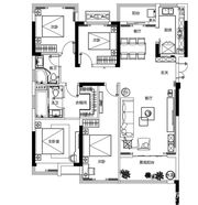 融侨观澜132㎡户型4室2厅132㎡