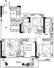 融侨观澜105㎡户型3室2厅105㎡