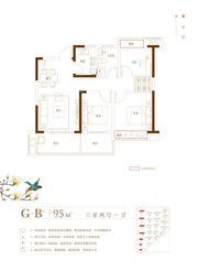 文一叶语湾G-B3室2厅95㎡