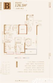 金鹏玲珑湾东院阔景高层3室2厅126㎡
