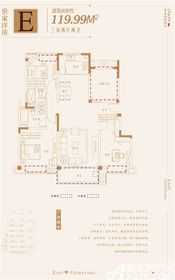 金鹏玲珑湾东院世家洋房3室2厅119.99㎡