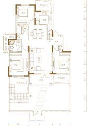 青山郡王府王府A2一层3室2厅146.63㎡