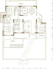 青山郡王府王府B1一层3室2厅146.63㎡