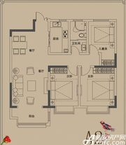 顺达玫瑰园A2户型3室2厅111㎡