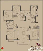 顺达玫瑰园D1户型4室2厅142㎡