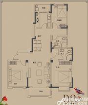 顺达玫瑰园D2户型3室2厅132㎡
