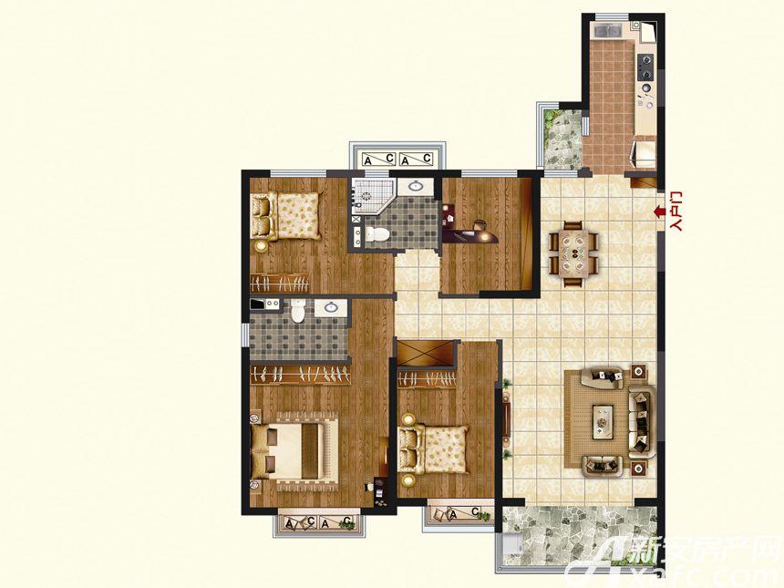 恒大珺睿府LR23-A4室2厅139.99平米