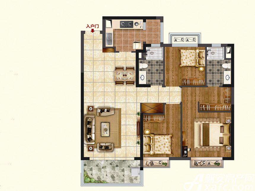 恒大珺睿府LR25-C3室2厅115.74平米
