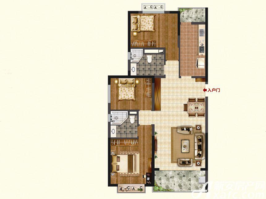 恒大珺睿府LR30-D3室2厅123.53平米