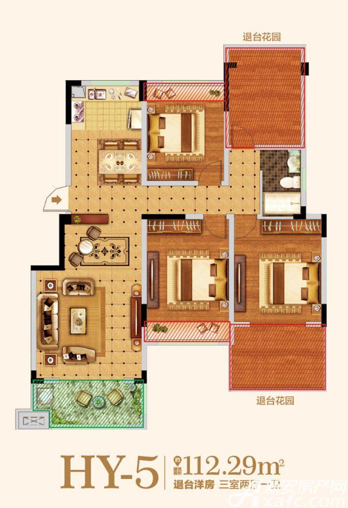 金马爱梦庄园HY-53室2厅112.29平米