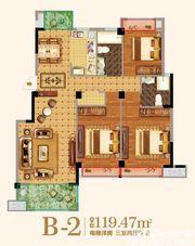 金马爱梦庄园B-23室2厅119.47㎡