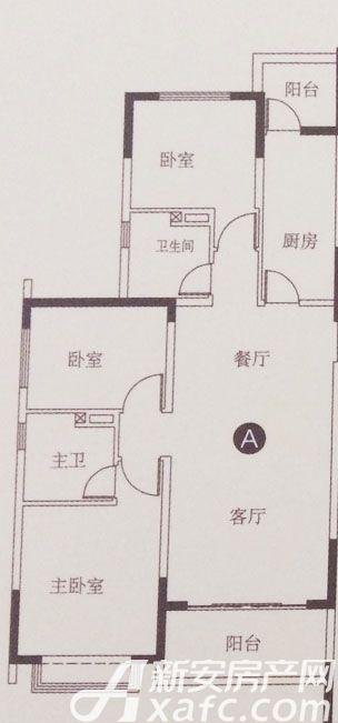 恒大滨江左岸A3室2厅118.24平米