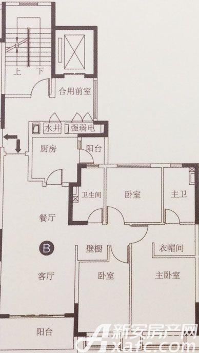 恒大滨江左岸B3室2厅121.92平米