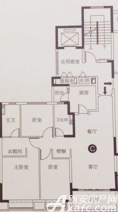 恒大滨江左岸C3室2厅122.02平米