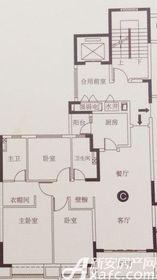 恒大滨江左岸C3室2厅122.02㎡