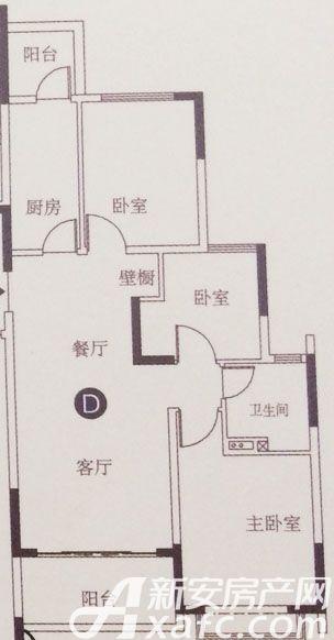 恒大滨江左岸D3室2厅101.11平米