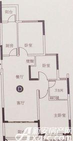 恒大滨江左岸D3室2厅101.11㎡