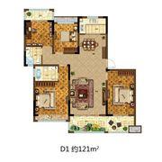 尚泽壹号院D14室2厅121㎡