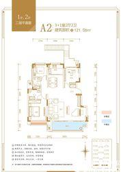 融翔·君悦澜山1#2#A2户2F4室2厅121.06㎡