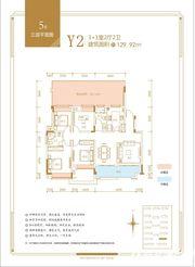 融翔·君悦澜山5#Y1户2F34室2厅129.92㎡