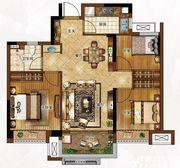 合景庐月湾86-89㎡G1户型图3室2厅86㎡