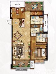 合景庐月湾103-106㎡G2户型2室2厅103㎡