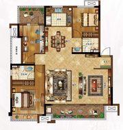 合景庐月湾141㎡Y2户型图3室2厅141㎡