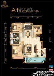 融翔·君悦澜山1#2#A1户3F4室2厅128.43㎡