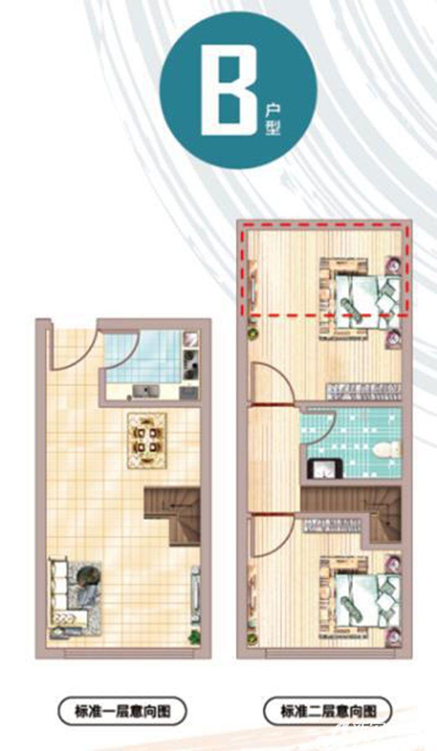 文一名门金隅B户型1室1厅35平米