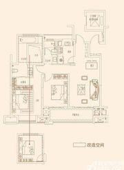 皖新国玺A户型3室2厅116㎡