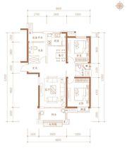 合肥万达城B6户型3室2厅111㎡