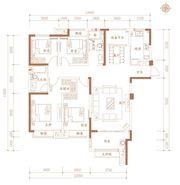 合肥万达城E1户型4室2厅138㎡