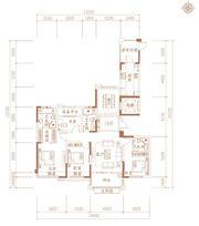 合肥万达城F2-1户型4室2厅169㎡