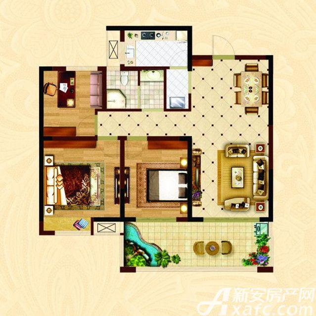 时代名门B3室2厅115.87平米