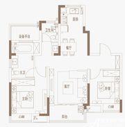 御璟江山G07户型边户3室2厅96㎡