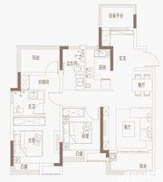 御璟江山G10、G11户型4室2厅101㎡