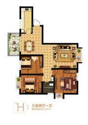 富安德森广场1# H3室2厅114㎡